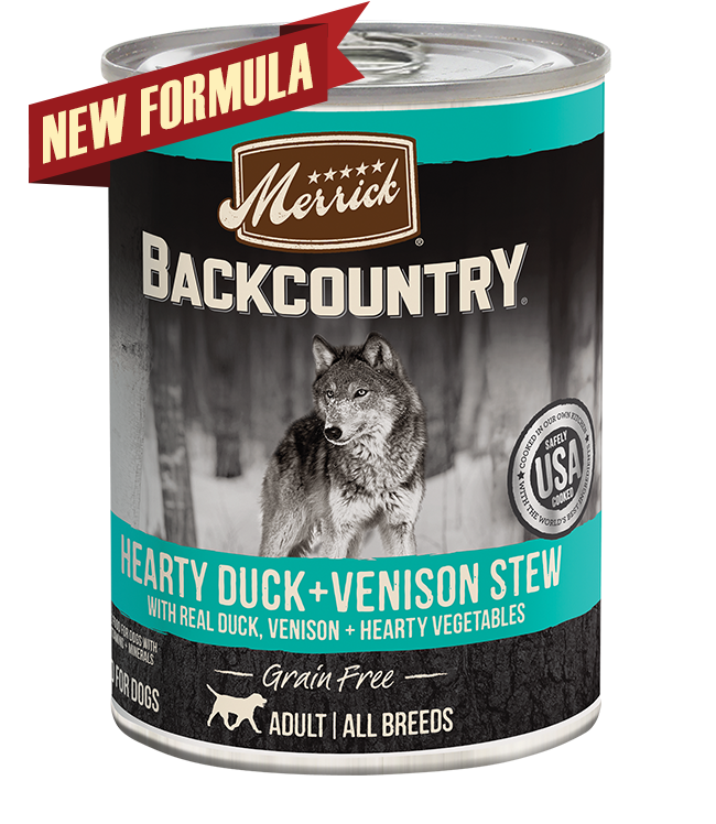 Merrick Merrick Backcountry Hearty Duck & Venison Stew Wet Dog Food 12.7oz