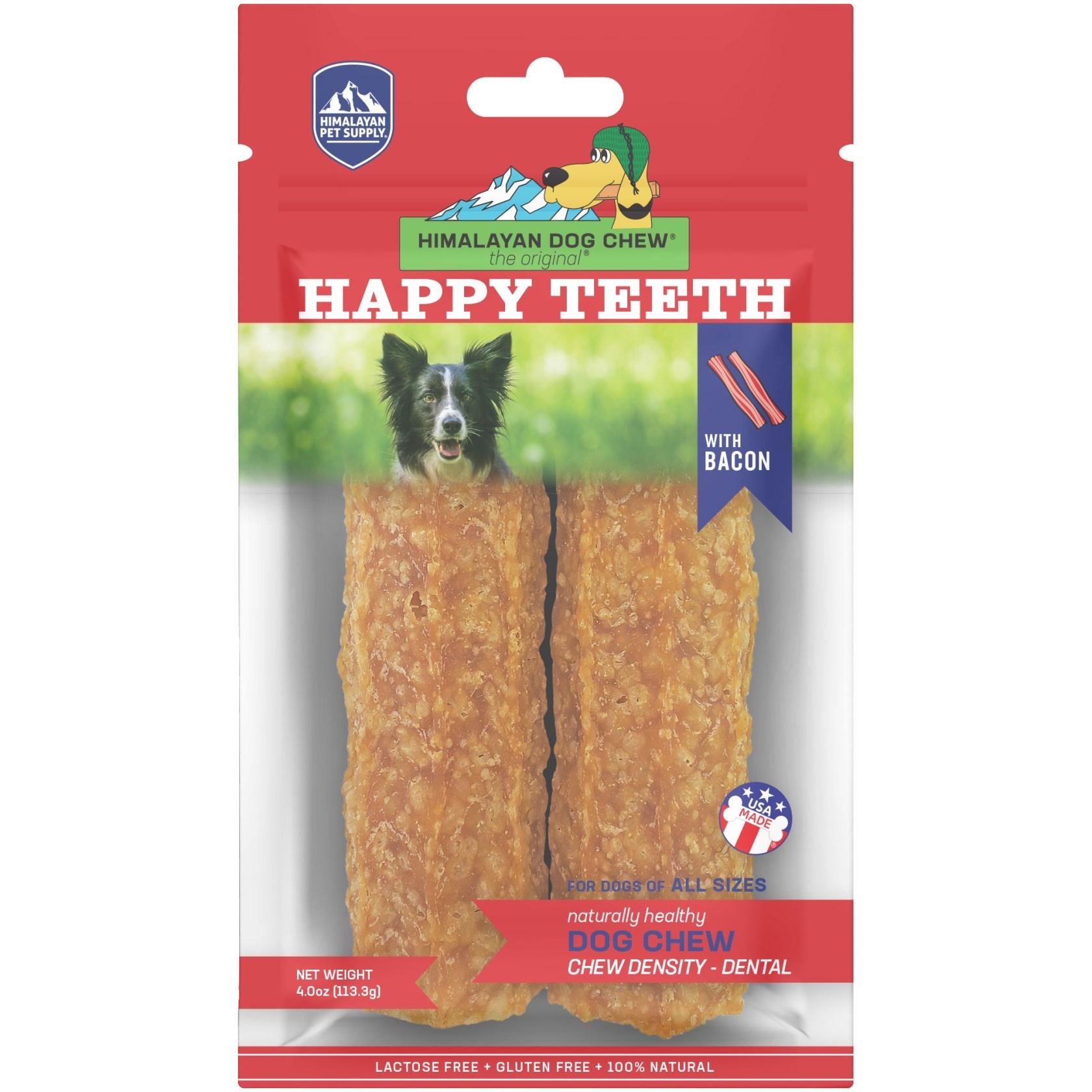 Himalayan Himalayan Happy Teeth Bacon Dog Chew 2pk