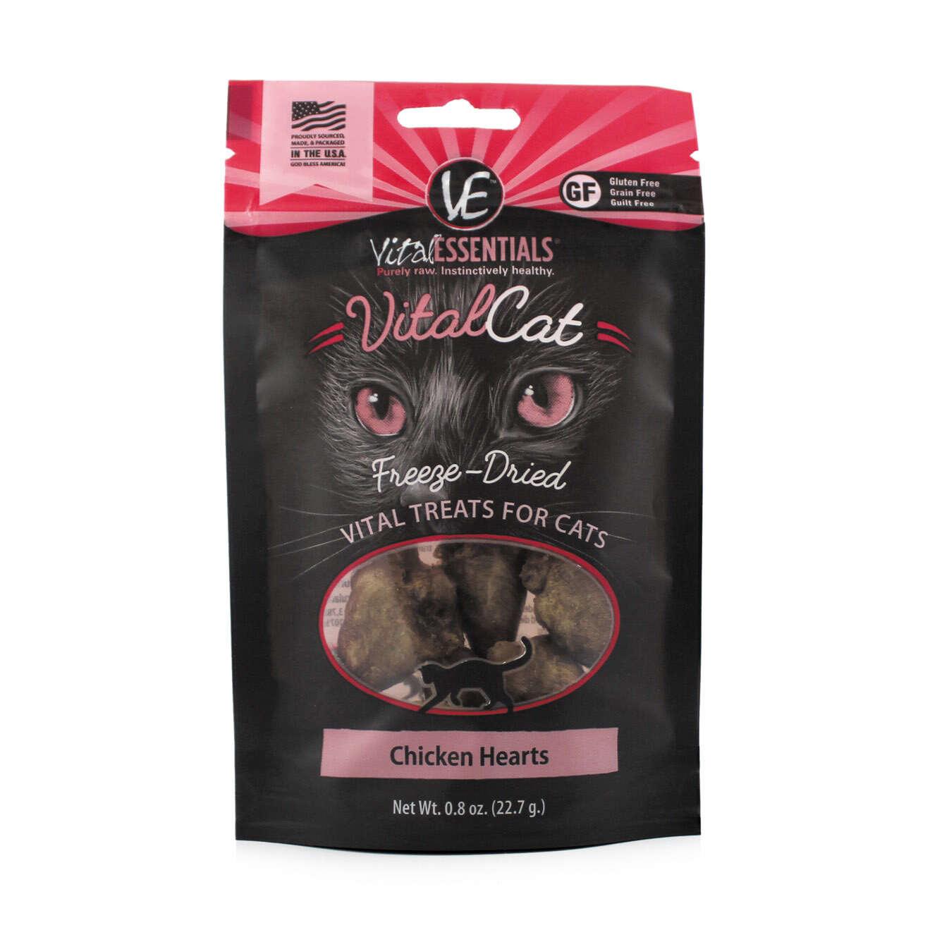 Vital Essentials Vital Essentials Freeze Dried Chicken Hearts Cat Treat 0.8oz