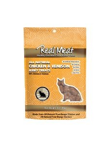 Real Meat Real Meat Chicken & Venison Jerky Cat Treats 3oz