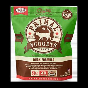 Primal Primal Duck Nuggets Raw Cat Food 3#