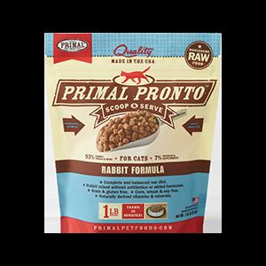 Primal Primal Rabbit Pronto Bites Raw Cat Food 1#