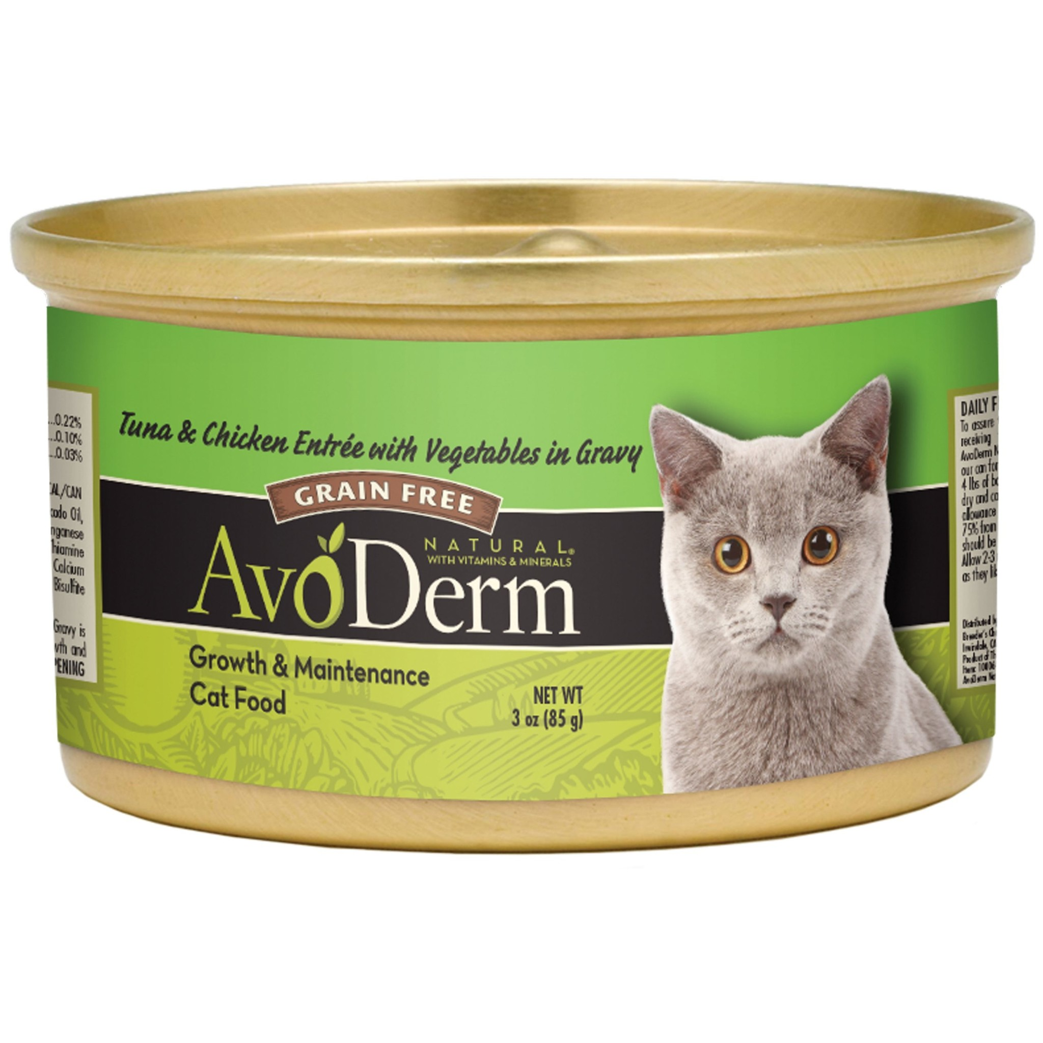 AvoDerm AvoDerm Tuna & Chicken Entree with Vegetables Wet Cat Food 3oz