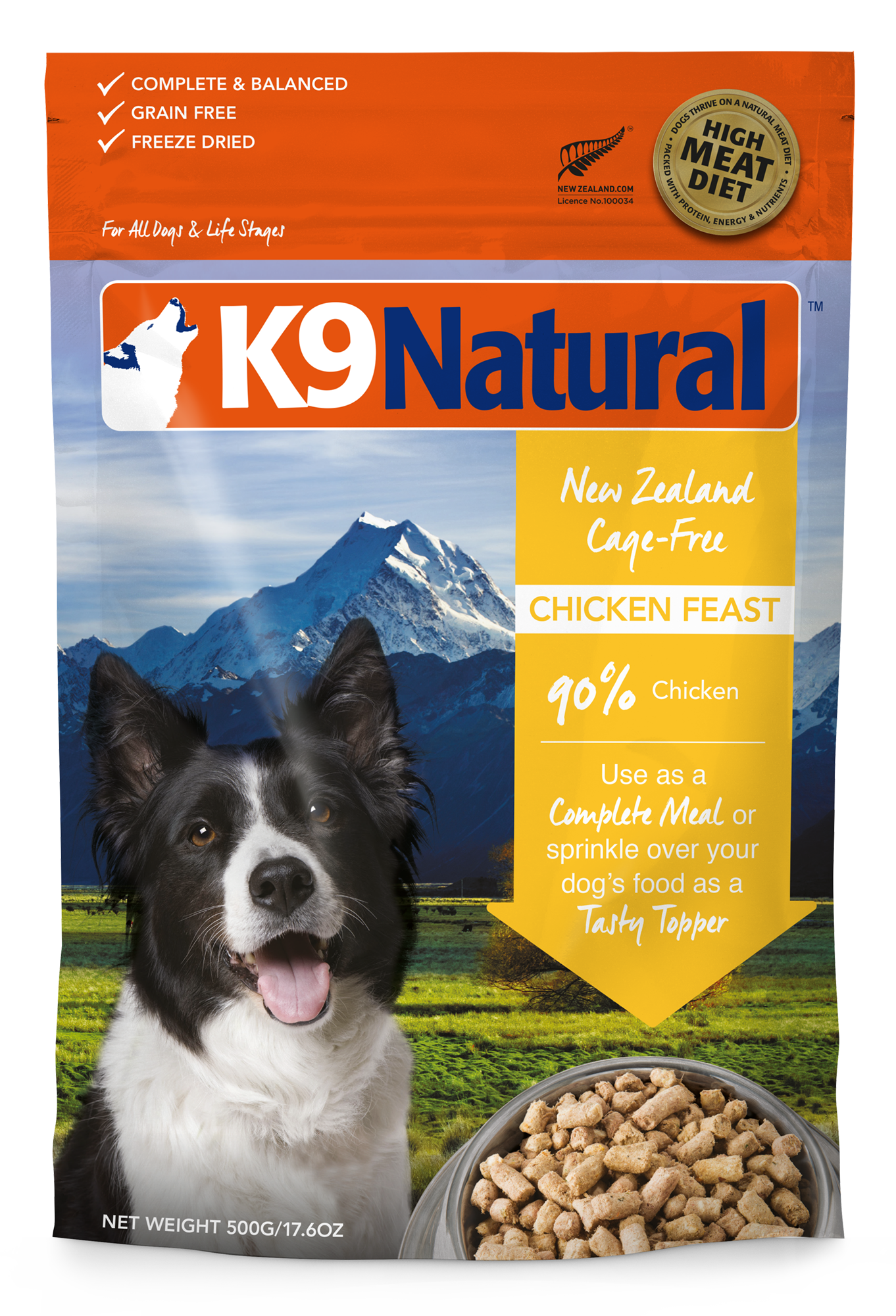 K9 Natural K9 Natural Freeze Dried Chicken Feast Dog Food 17.6oz