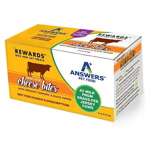 Answers Answers Cow's Milk Cheese with Turmeric & Black Pepper Dog Treat 8oz