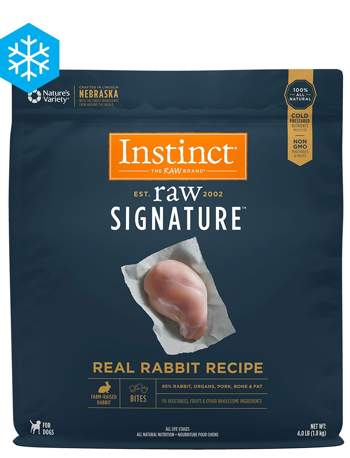 Instinct Instinct Signature Bites Real Rabbit Raw Dog Food 4#