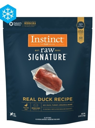 Instinct Instinct Signature Medallions Real Duck Raw Dog Food 3#