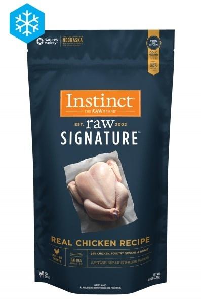 Instinct Instinct Signature Patties Real Chicken Raw Dog Food 6#