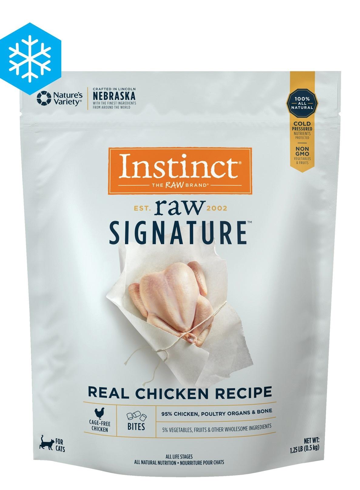 Instinct Instinct Signature Bites Real Chicken Raw Cat Food 1.25#