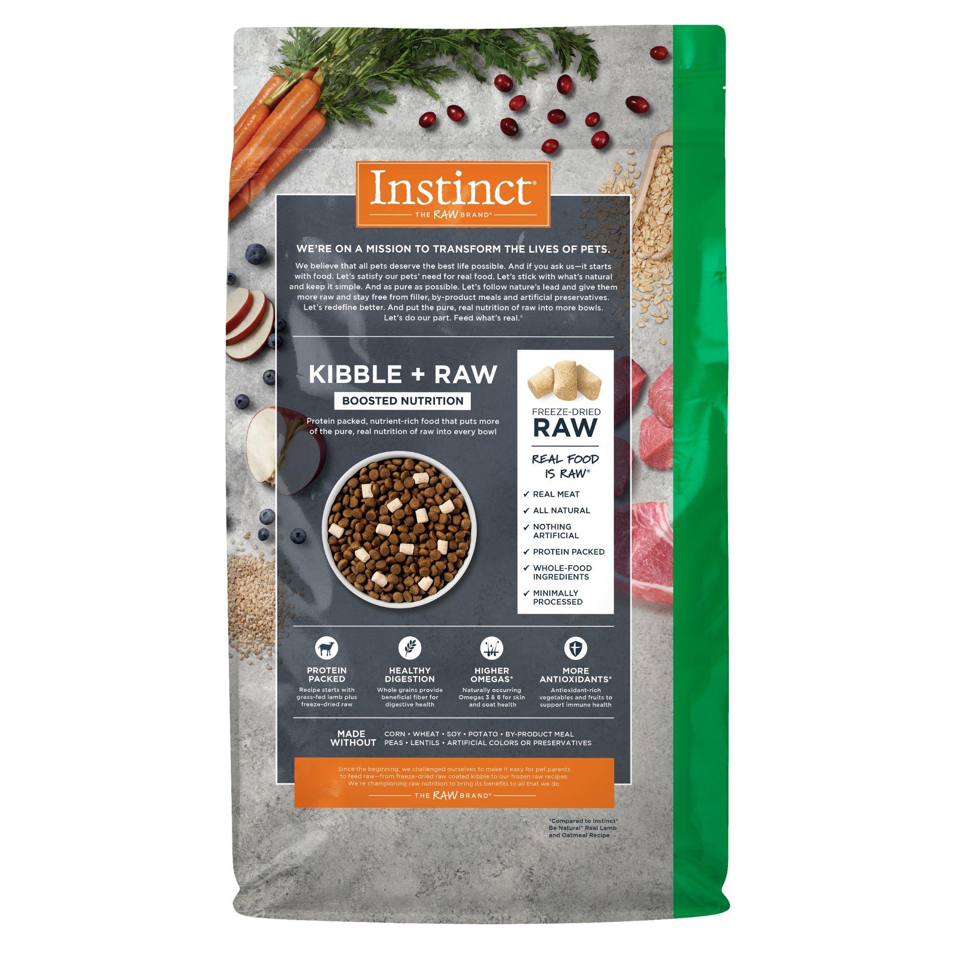 Instinct Instinct Raw Boost Whole Grain Real Lamb & Oatmeal Recipe Dry Dog Food