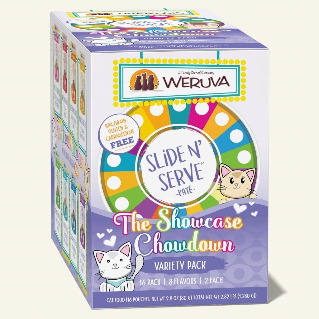 Weruva Weruva Slide n' Serve The Showcase Chowdown Variety Pack Wet Cat Food Pouches 2.8oz
