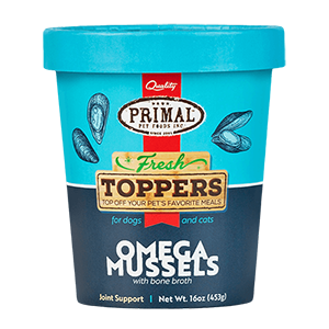 Primal Primal Fresh Toppers Omega Mussels Supplement