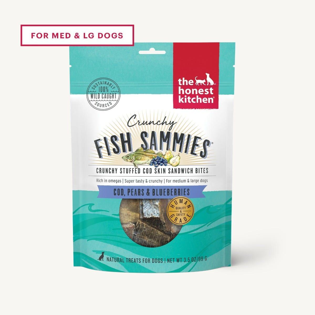 The Honest Kitchen The Honest Kitchen Crunchy Fish Sammies Cod & Pear Dog Treat 3.5oz