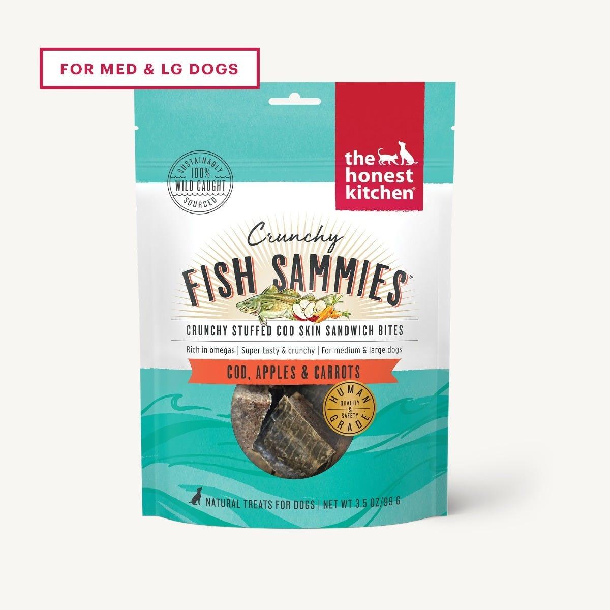 The Honest Kitchen The Honest Kitchen Crunchy Fish Sammies Cod & Carrot Dog Treats 3.5oz