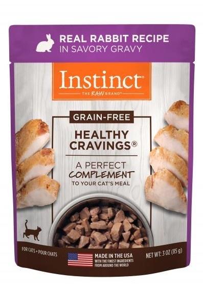 Instinct Instinct Healthy Cravings Rabbit Wet Cat Food Pouch 3oz