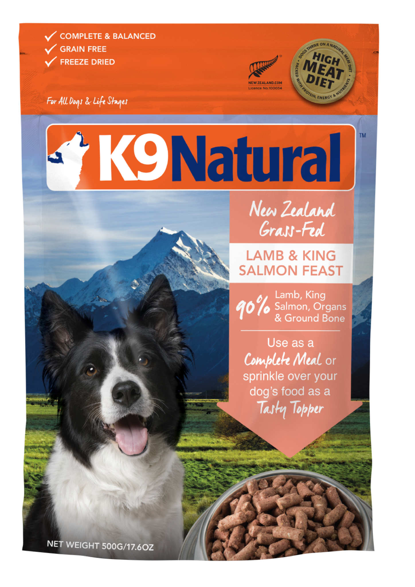 K9 Natural K9 Natural Freeze Dried Lamb & Salmon Feast Dog Food 17.6oz