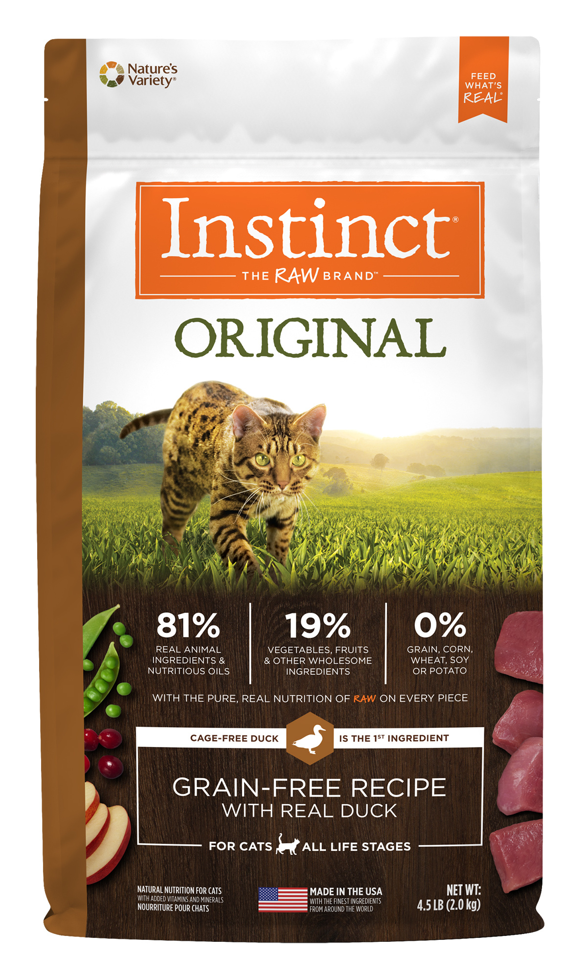 Instinct Instinct Original Grain Free Duck Dry Cat Food