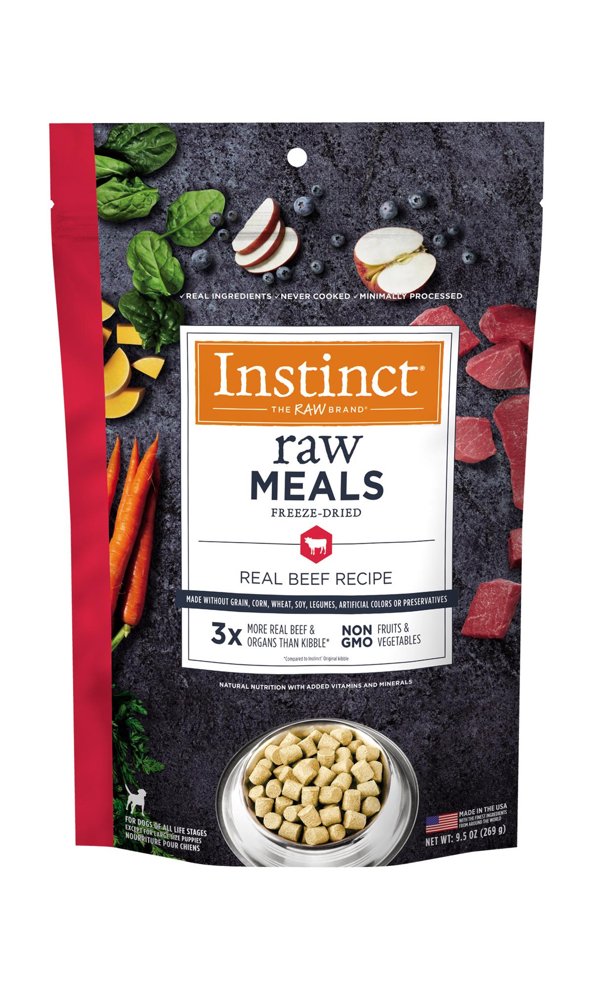 Instinct Instinct Raw Meals Freeze Dried Food Beef Dog 25oz
