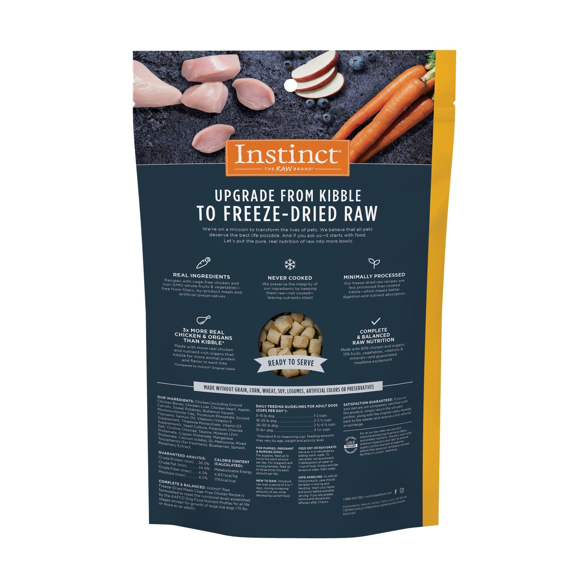 Instinct Instinct Raw Meals Freeze Dried Food Chicken Dog 25oz