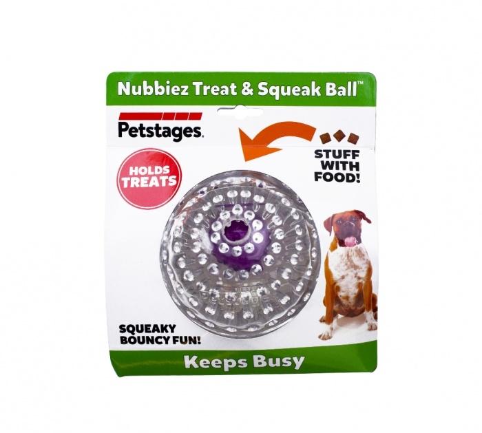 Outward Hound Outward Hound Nubbiez Treat & Squeak Ball Dog Toy