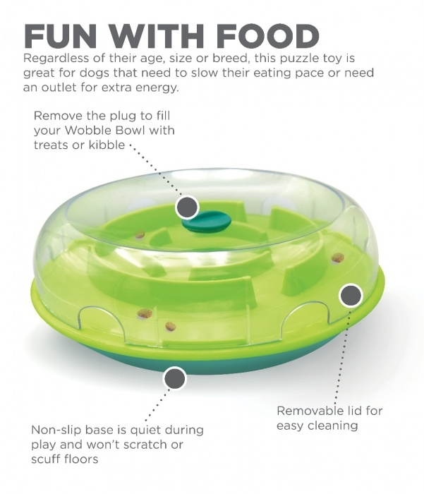 Outward Hound Outward Hound Wobble Bowl Level 1 Interactive Dog Toy