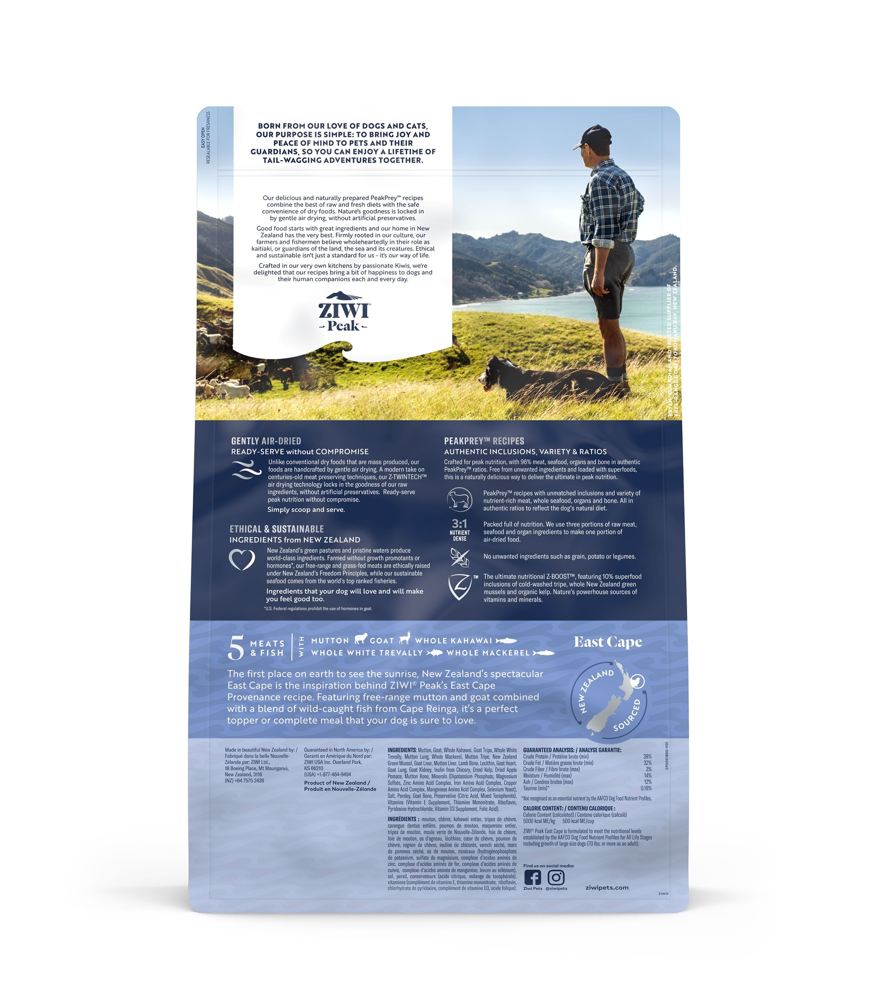 Ziwi Peak Ziwi Peak East Cape Air Dried Dog Food