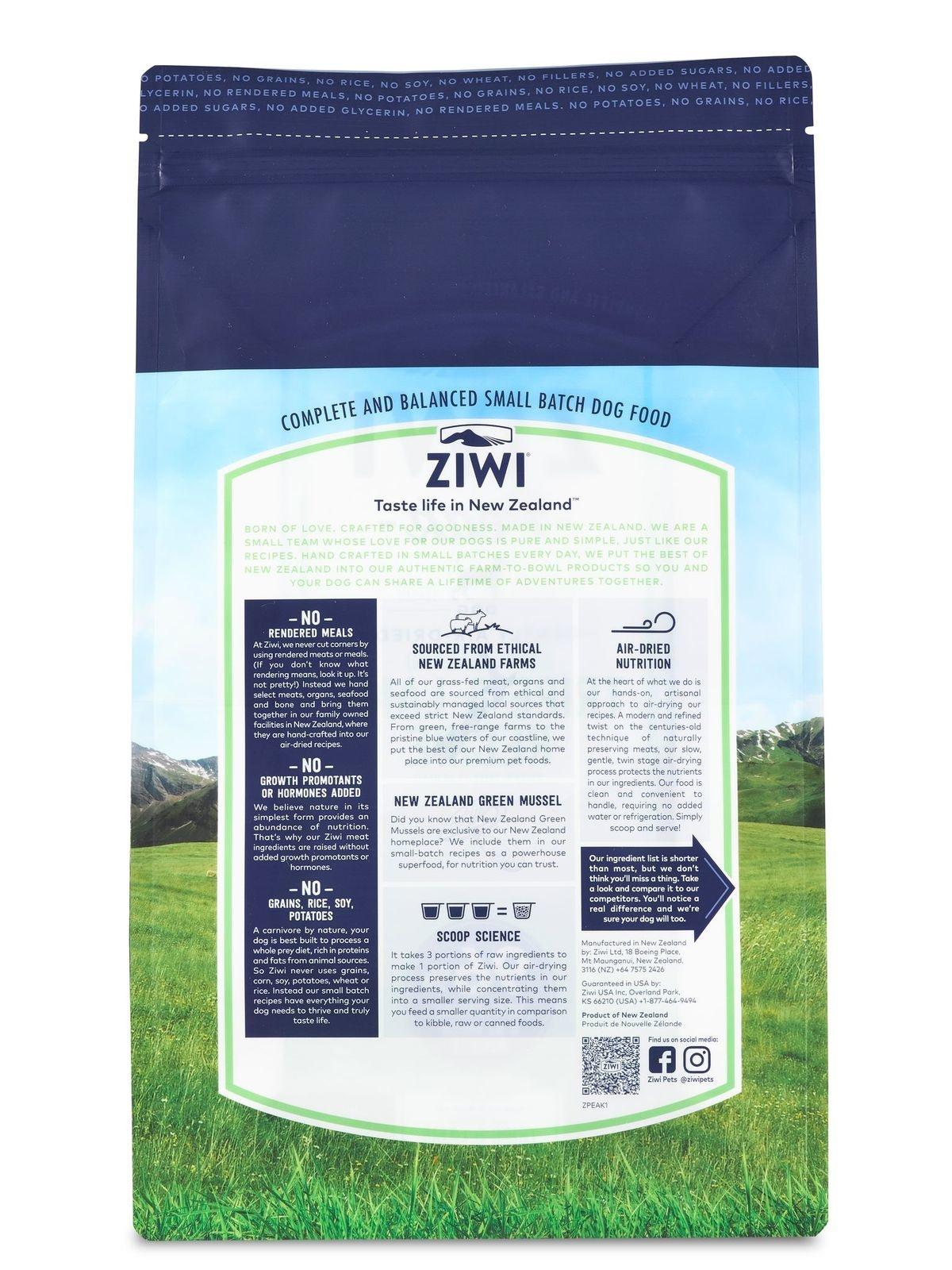Ziwi Peak Ziwi Peak Tripe & Lamb Air Dried Dog Food 1#