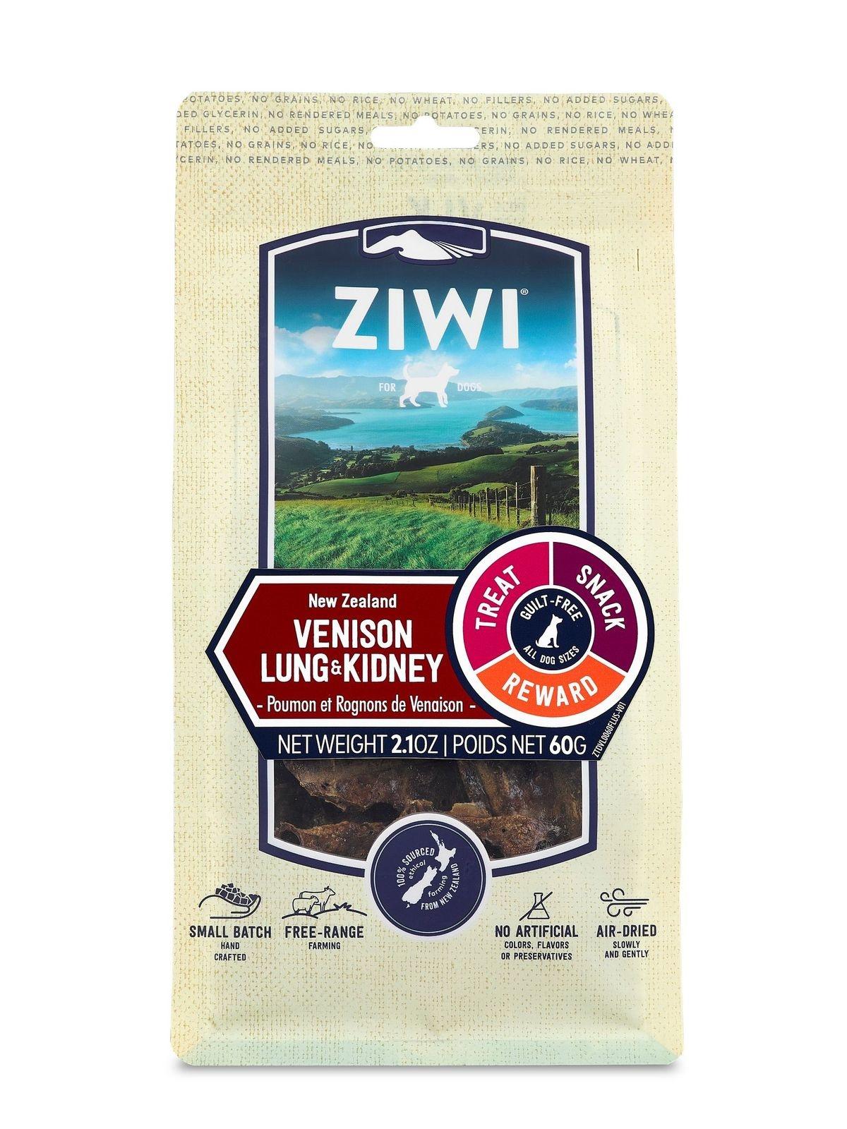 Ziwi Peak Ziwi Peak Venison Lung & Kidney Dog Treat 2.1oz