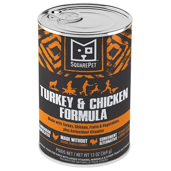 Squarepet Squarepet Canine Turkey & Chicken Wet Dog Food 13oz
