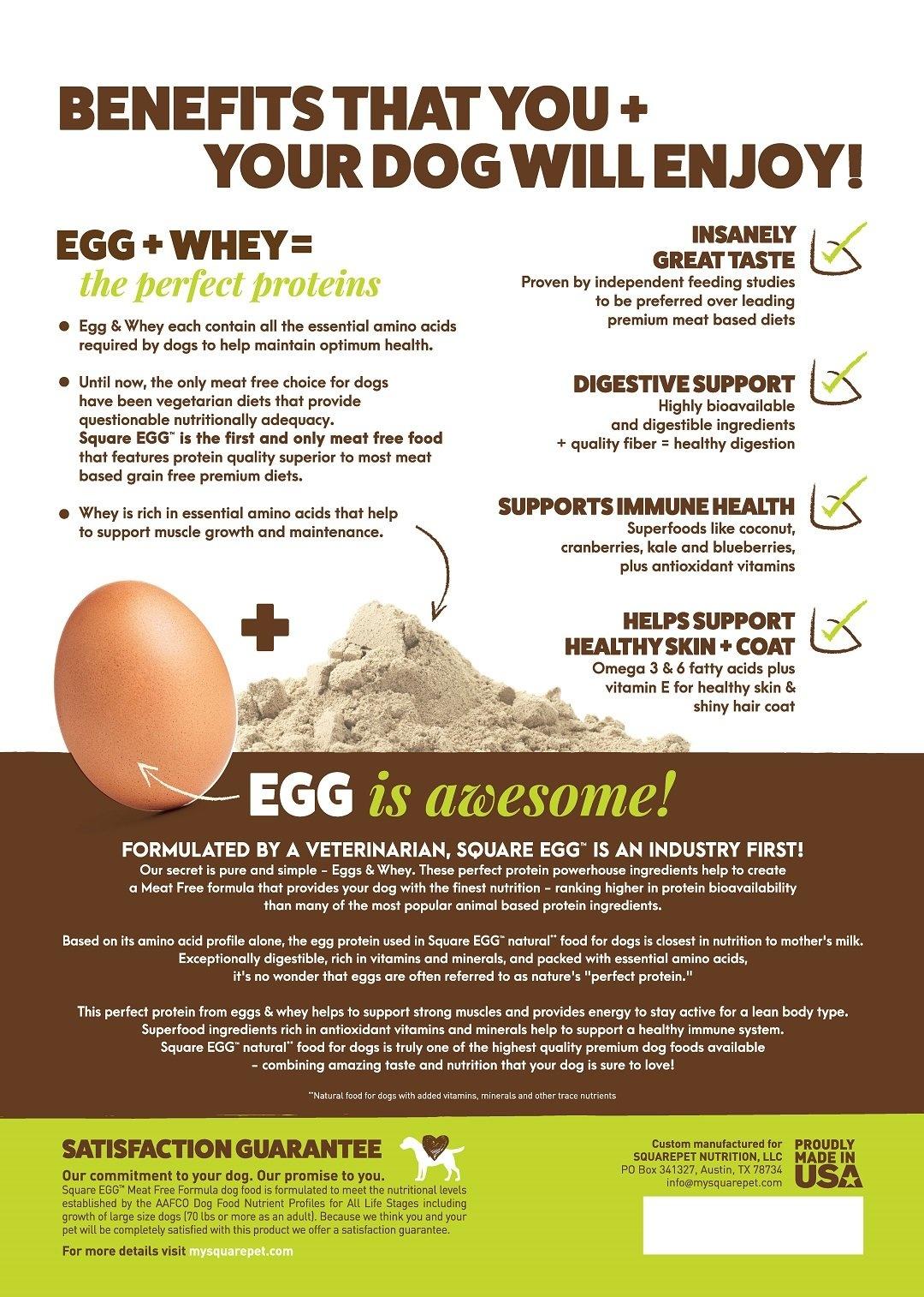 Squarepet Squarepet Square Egg Meat Free Dry Dog Food