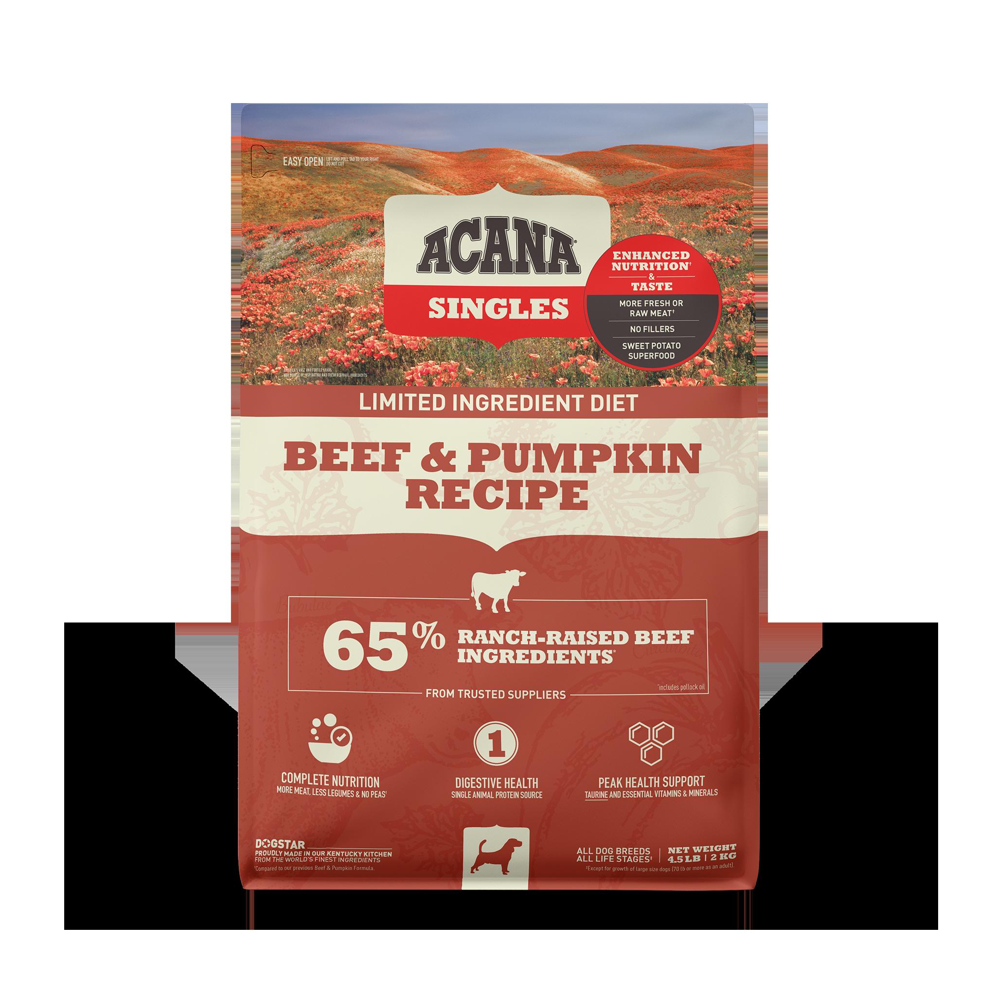 Acana Acana Singles Beef & Pumpkin Dry Dog Food