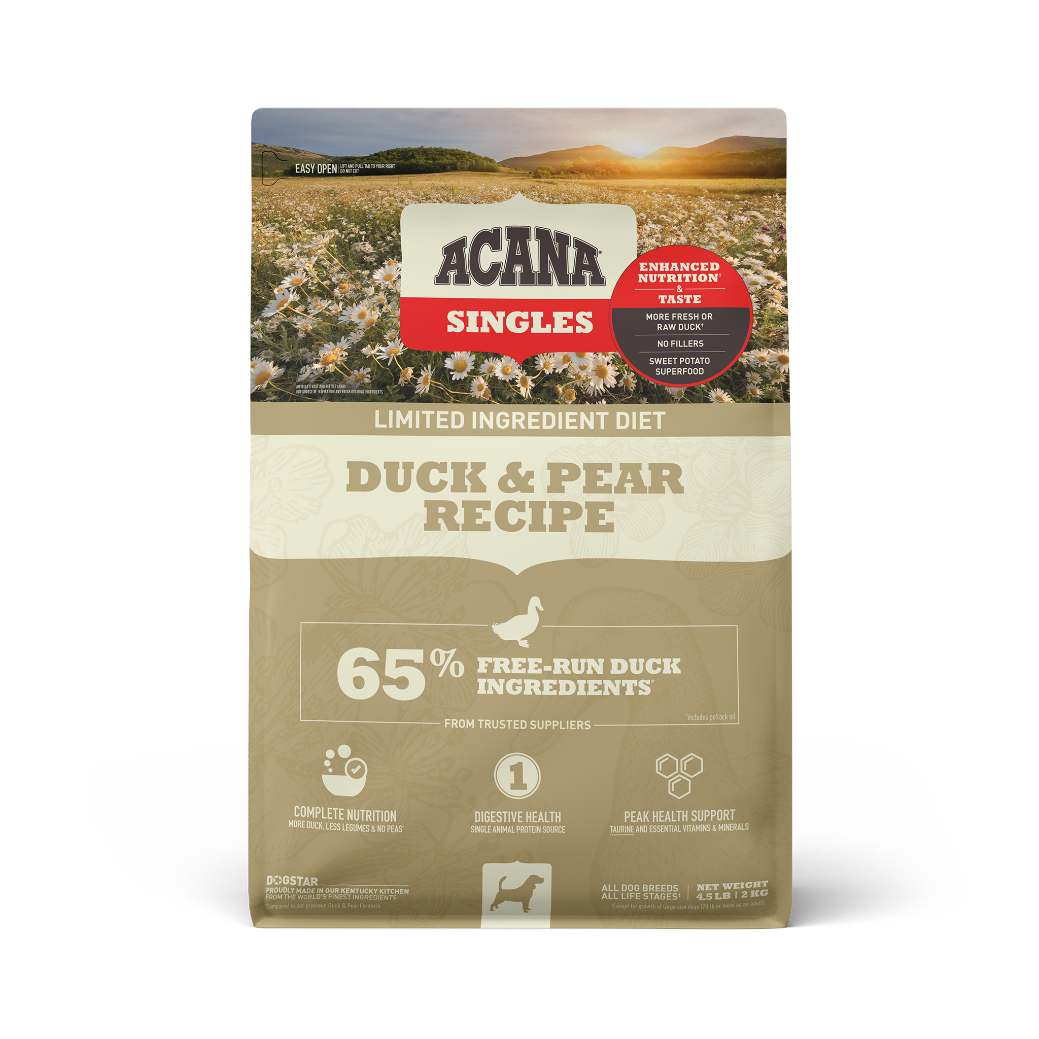 Acana Acana Singles Duck & Pear Dry Dog Food