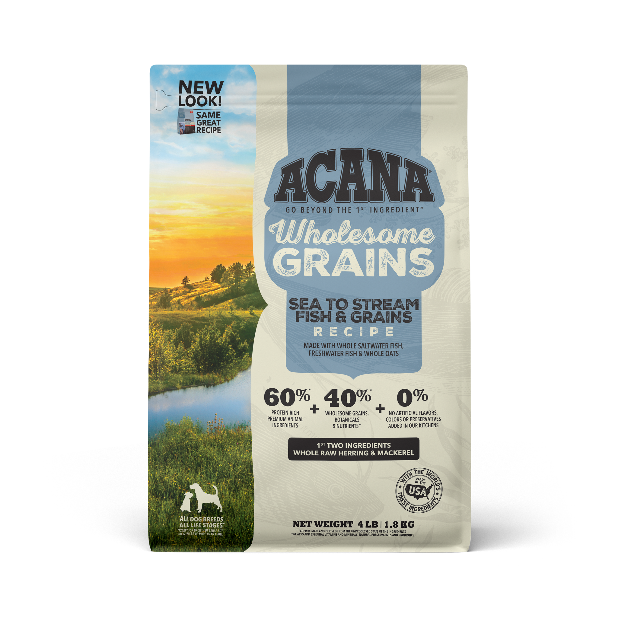 Acana Acana Regionals Wholesome Grains Sea to Stream Dry Dog Food