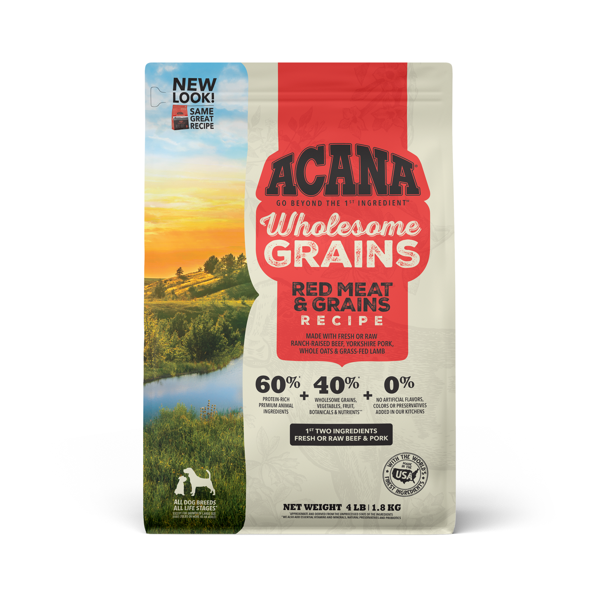 Acana Acana Heritage Wholesome Grains Red Meat Dry Dog Food