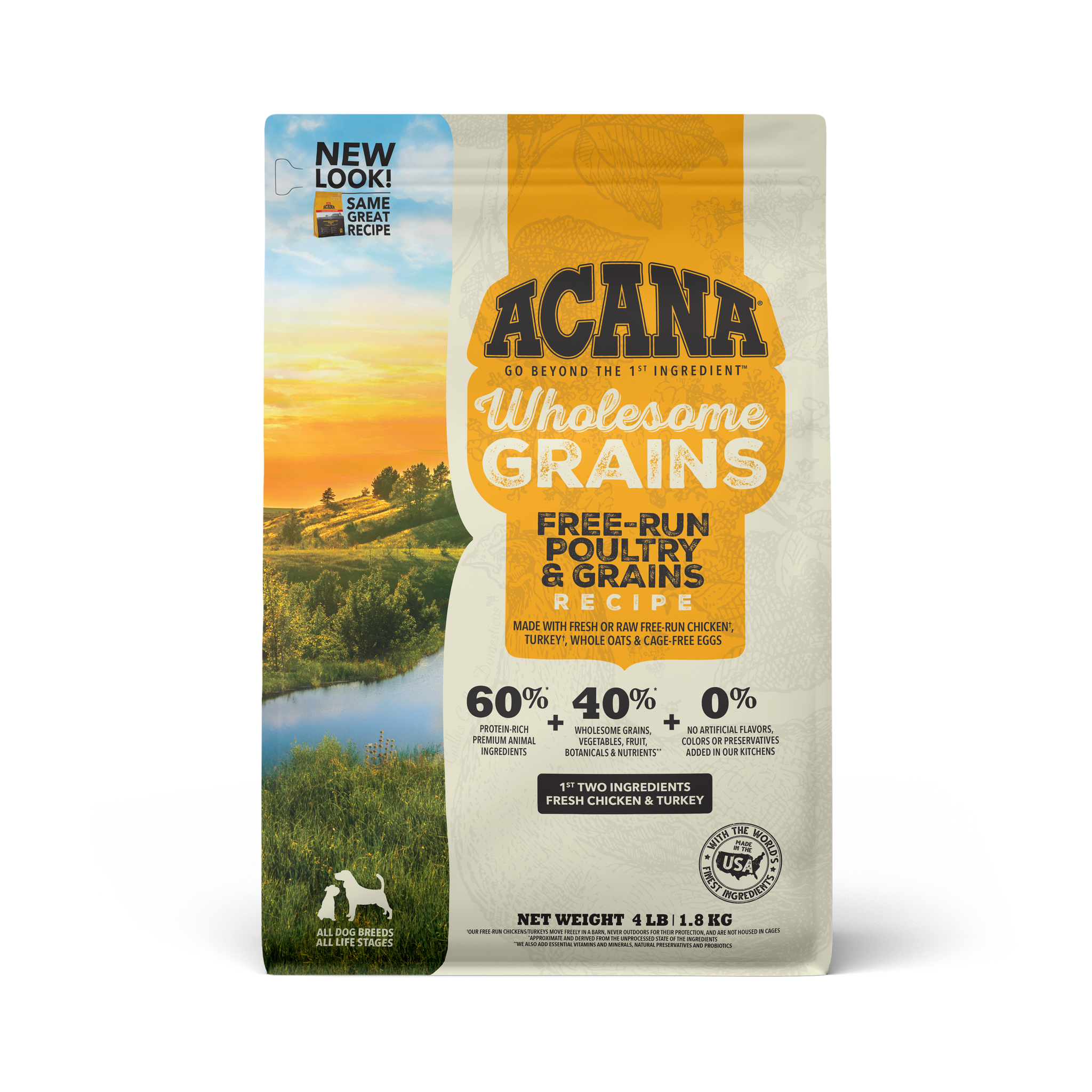 Acana Acana Heritage Wholesome Grains Free Run Poultry Dry Dog Food