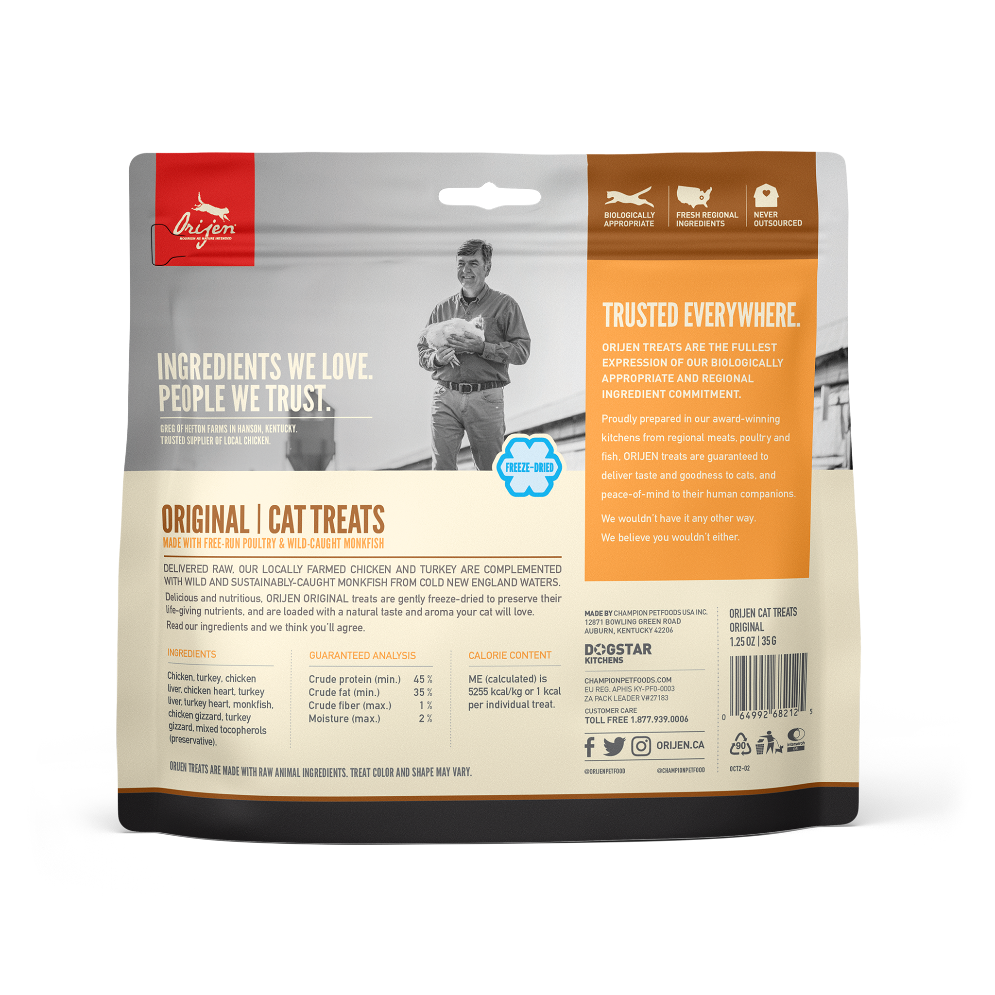 Orijen Orijen Freeze Dried Original Cat Treat 1.25oz