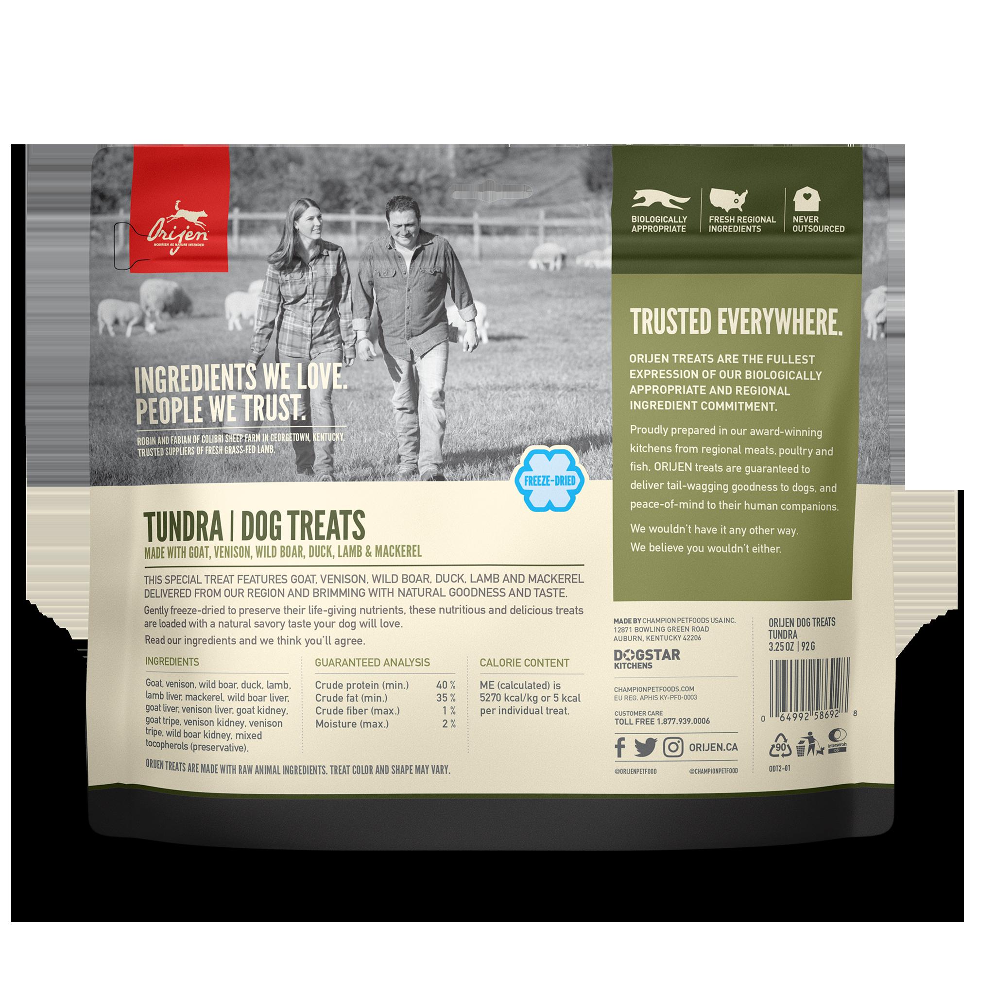 Orijen Orijen Freeze Dried Tundra Dog Treat 3.25oz