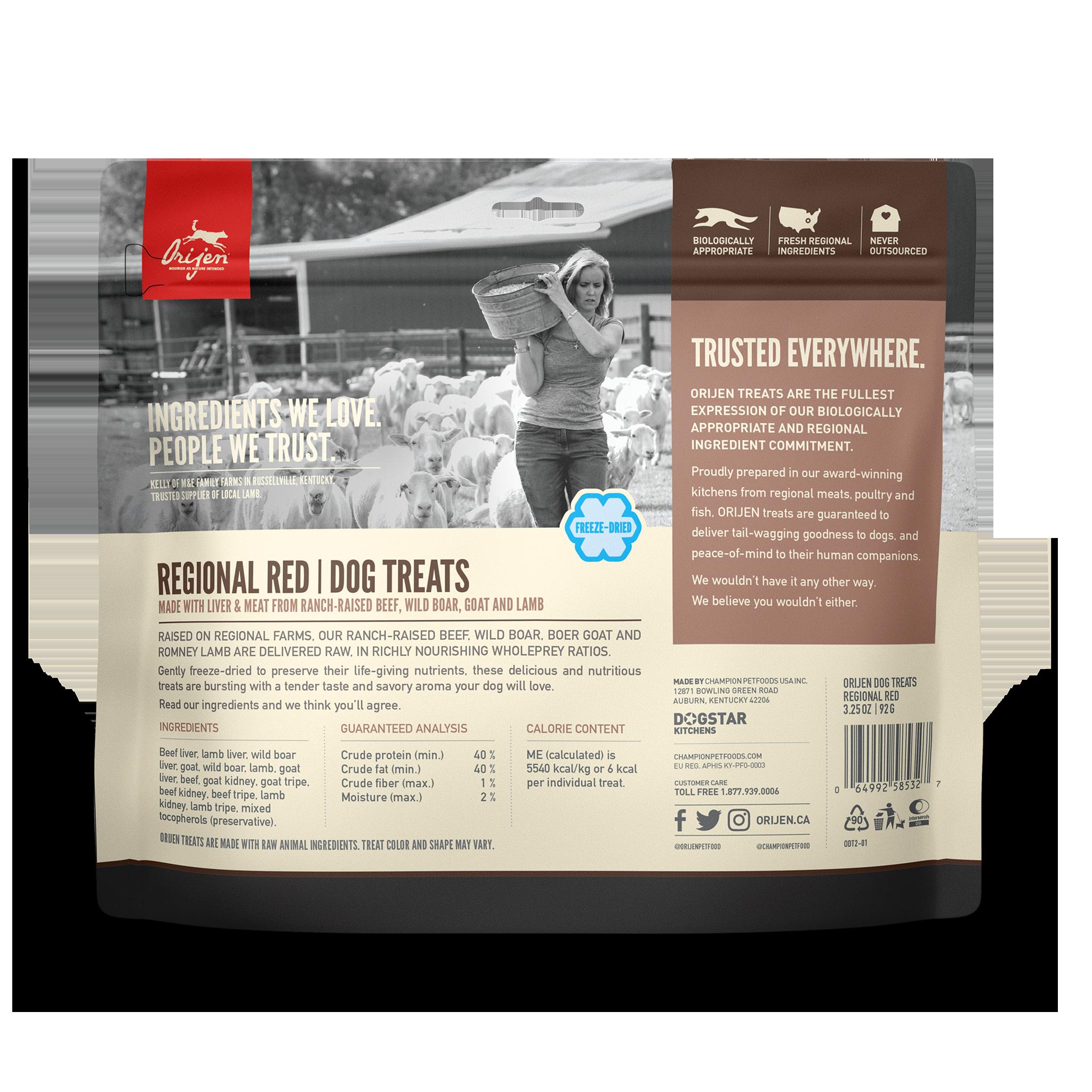 Orijen Orijen Freeze Dried Regional Red Dog Treat 3.25oz