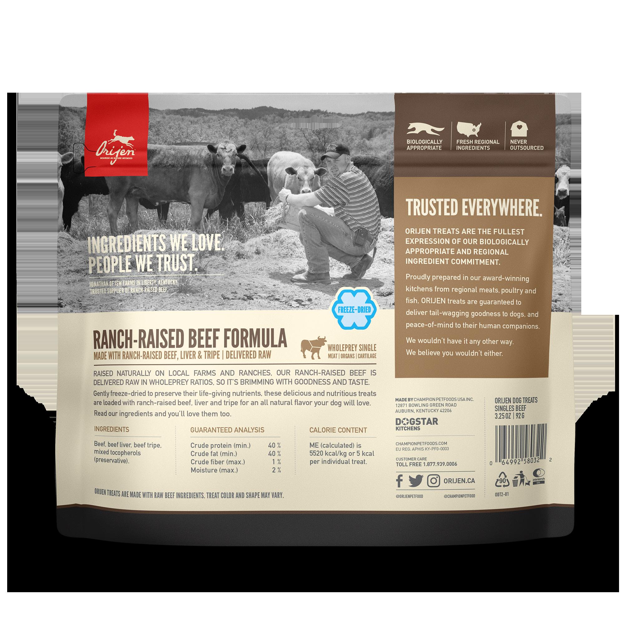 Orijen Orijen Freeze Dried Beef Dog Treats 3.25oz