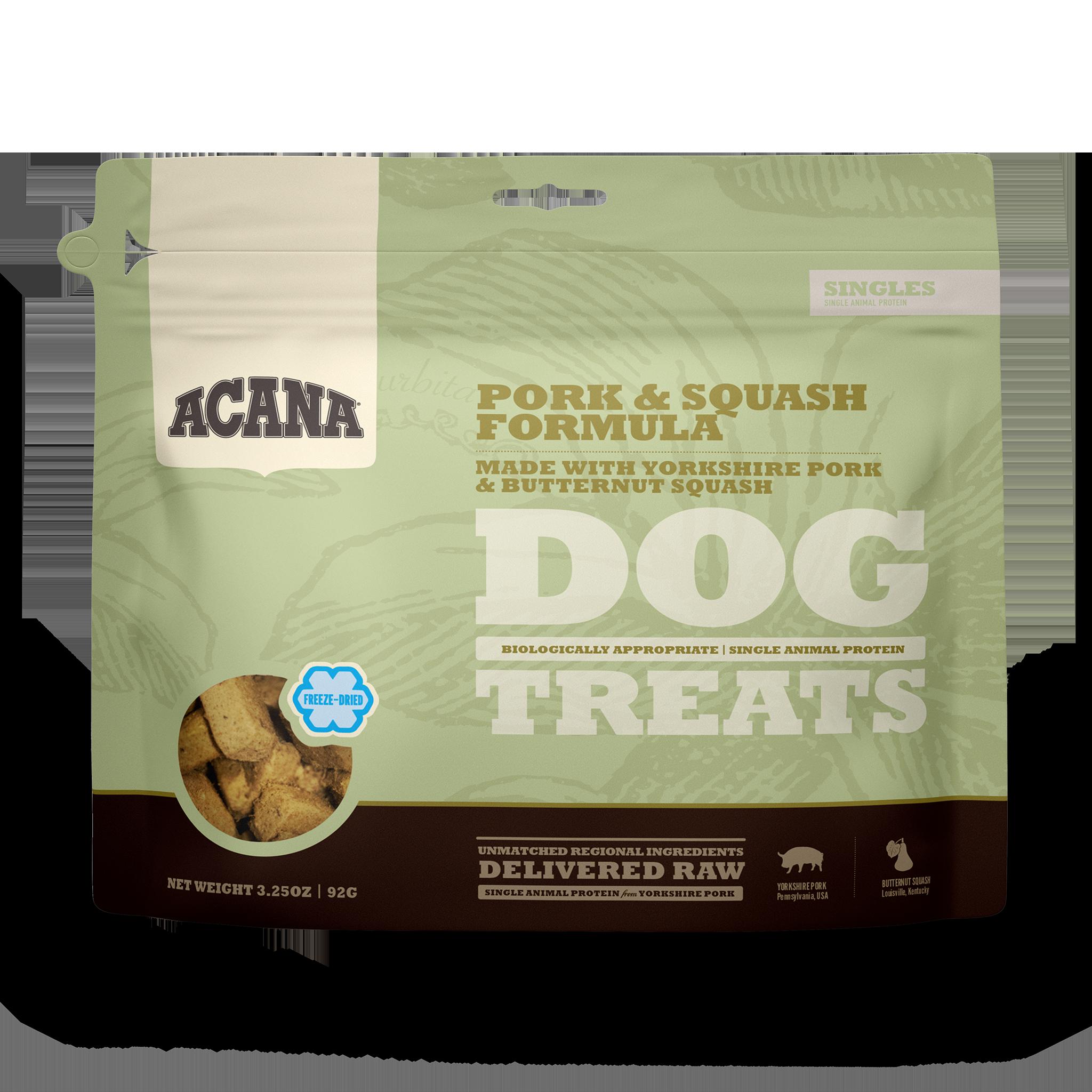 Acana Acana Freeze Dried Pork & Squash  Dog Treat 3.25oz
