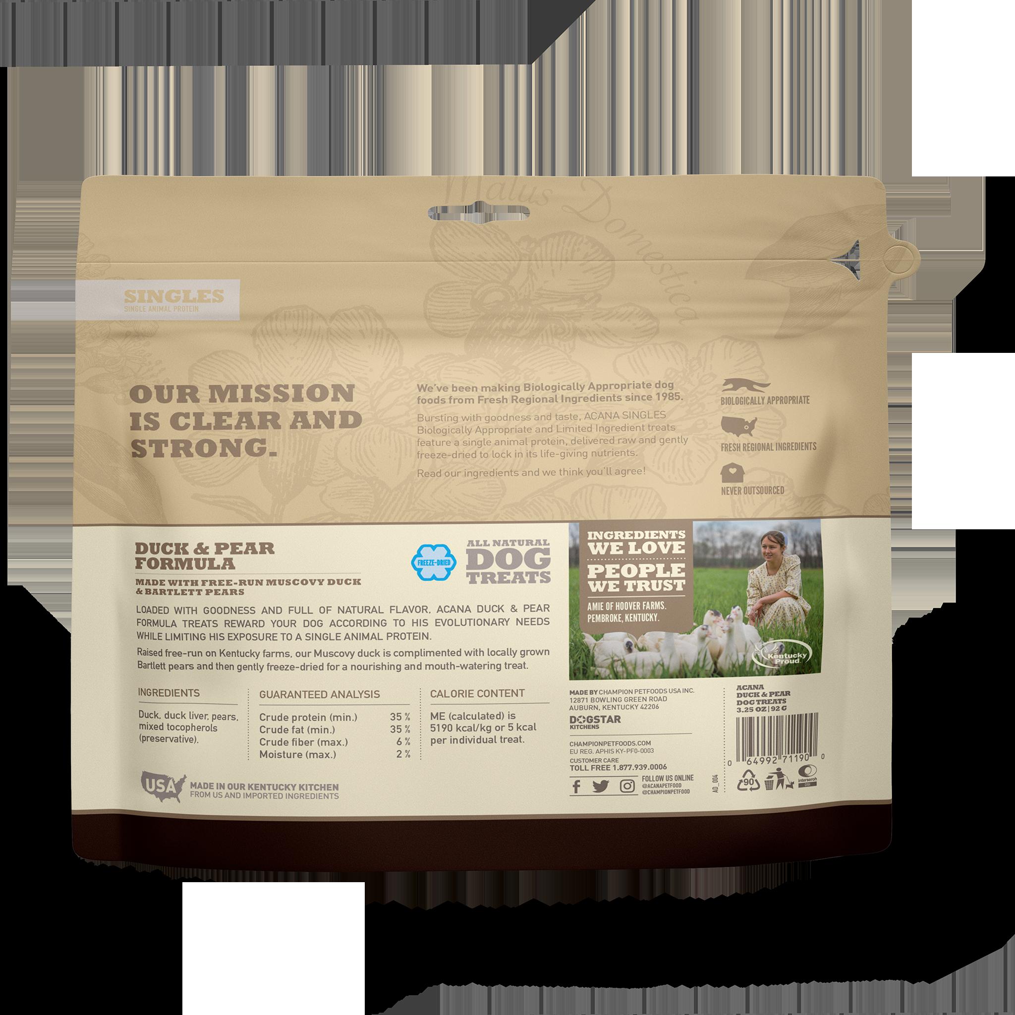 Acana Acana Freeze Dried Duck & Pear Dog Treat 3.25oz