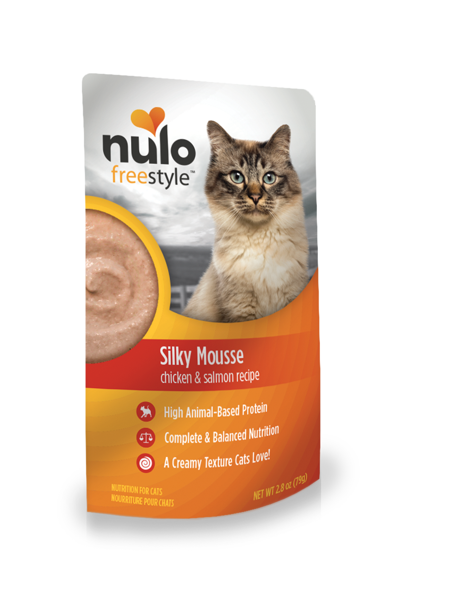 Nulo Nulo Silky Mousse Cat Food Chicken & Salmon Wet Cat Food Pouch 2.8oz