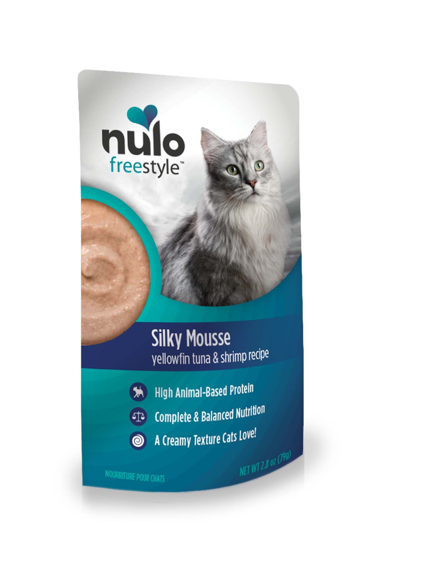 Nulo Nulo Silky Mousse Cat Food Tuna & Shrimp Wet Cat Food Pouch 2.8oz