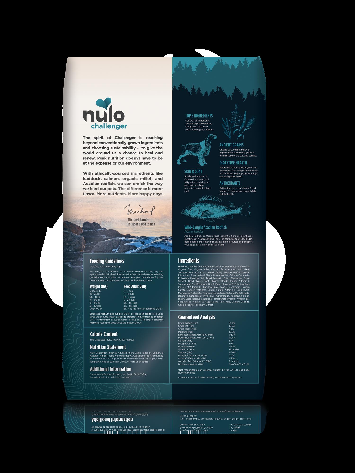 Nulo Nulo Challenger Northern Catch Haddock, Salmon, & Redfish Dry Dog Food