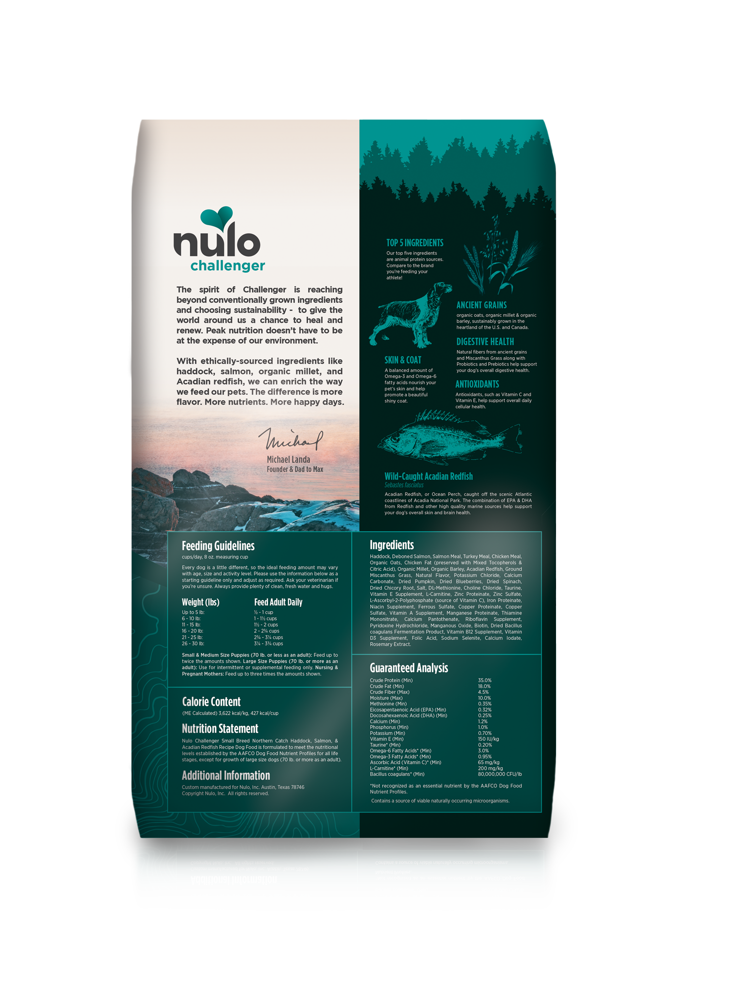 Nulo Nulo Challenger Small Breed Northern Catch Haddock Salmon & Redfish Dog Food