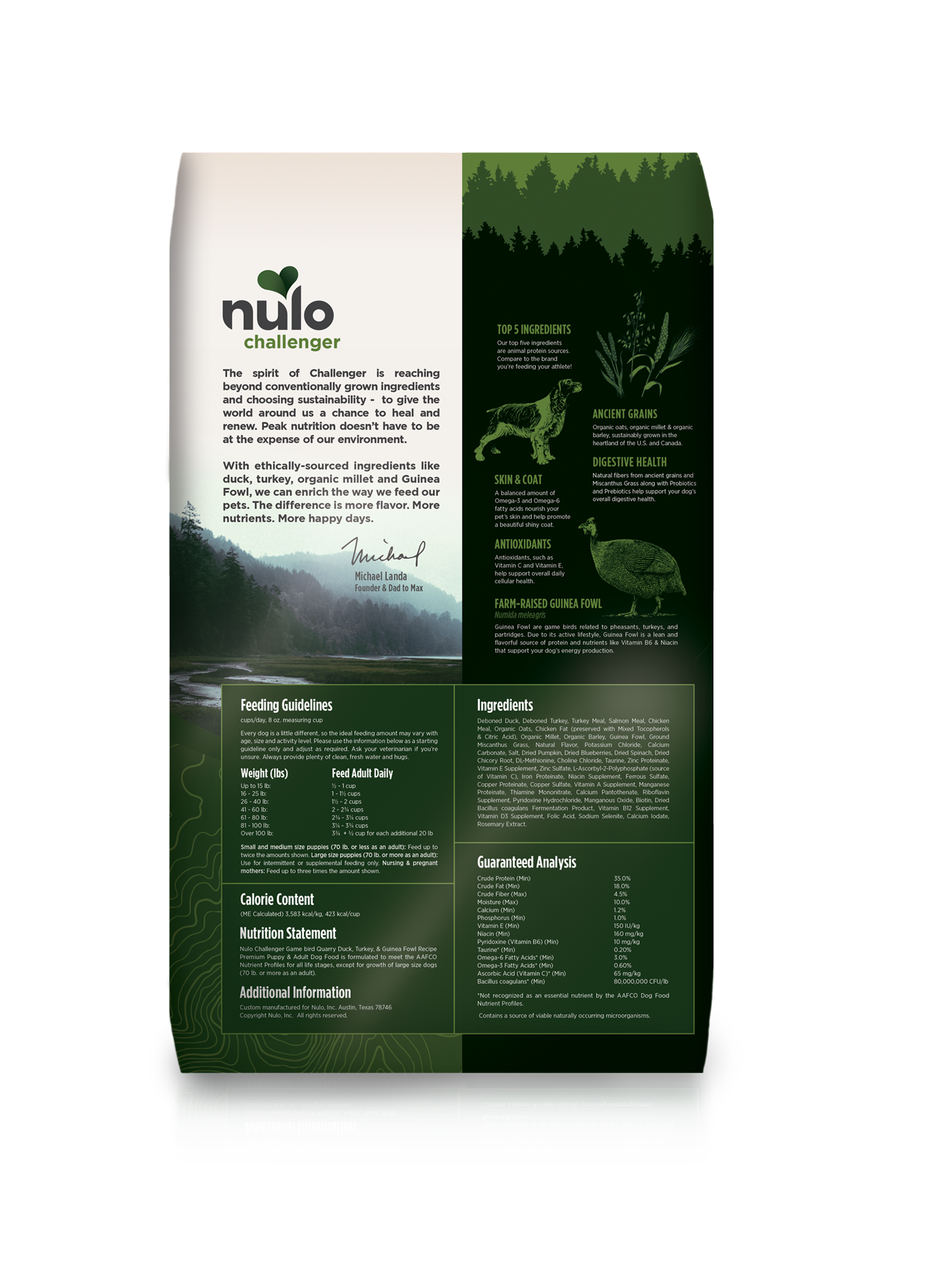 Nulo Nulo Challenger Gamebird Quarry Duck Turkey & Guinea Fowl Dry Dog Food