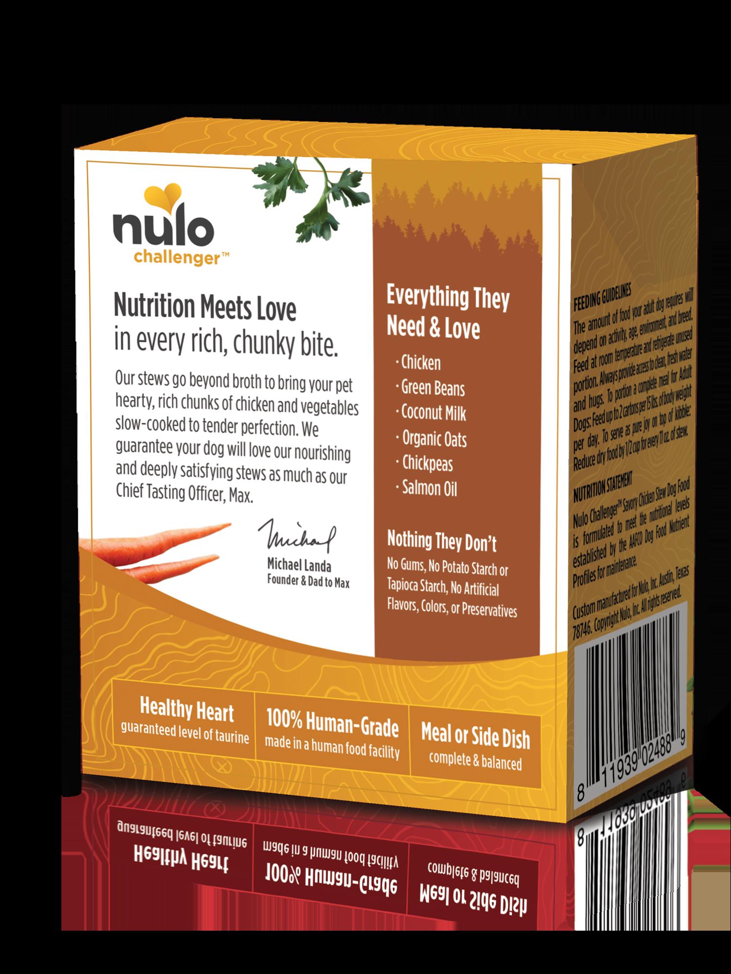 Nulo Nulo Challenger Savory Chicken Stew Wet Dog Food 11oz