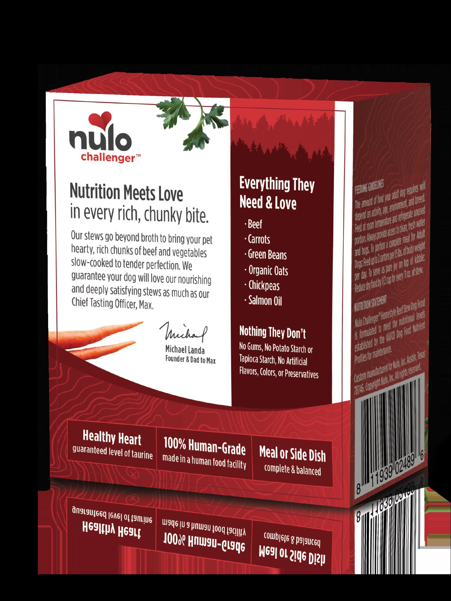 Nulo Nulo Challenger Homestyle Beef Stew Wet Dog Food 11oz