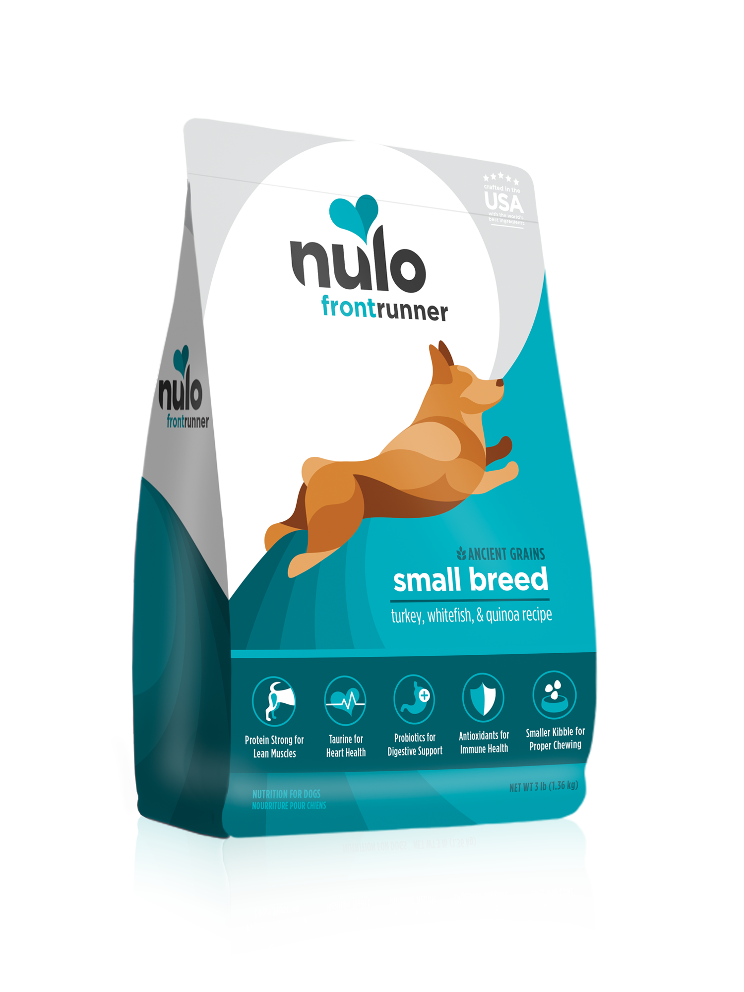 Nulo Nulo Frontrunner Small Breed Puppy & Adult Turkey, Whitefish & Quinoa Dry Dog Food
