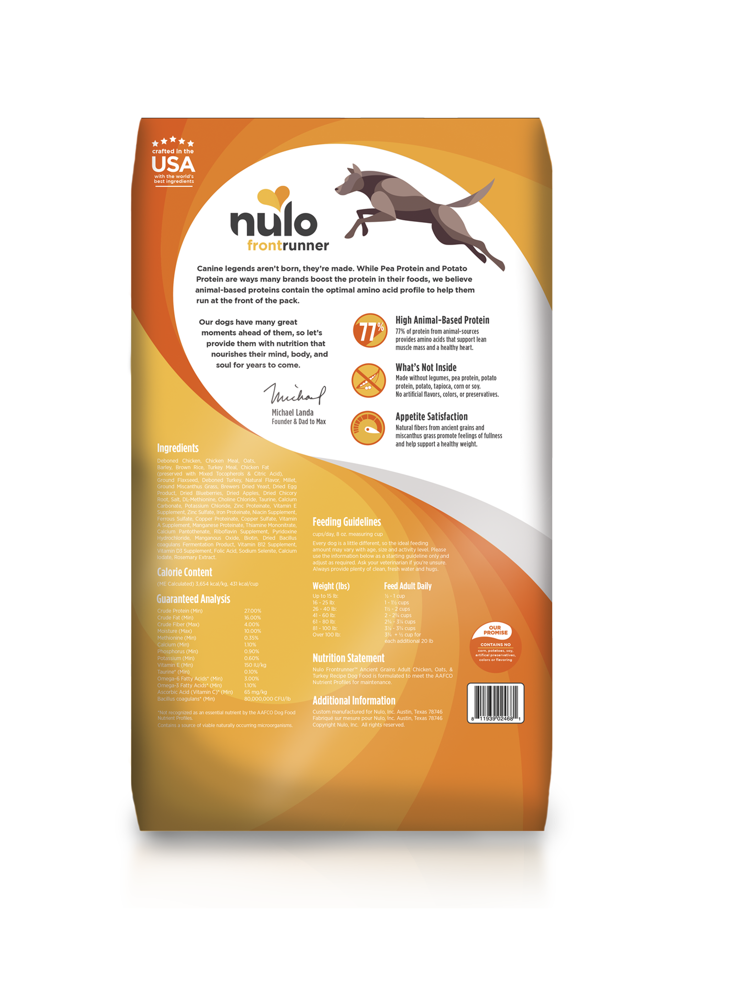 Nulo Nulo Frontrunner Adult Chicken, Oats & Turkey Dry Dog Food